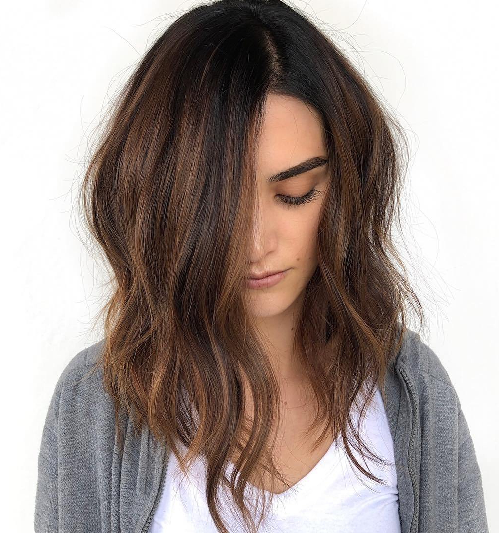 35 Killer Ways To Work Long Bob Haircuts For 2019 With Regard To Current Chestnut Brown Choppy Lob Hairstyles (View 2 of 20)