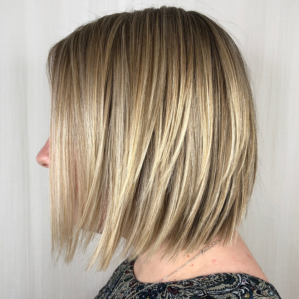 40 Awesome Ideas For Layered Bob Hairstyles You Can't Miss Intended For Newest Golden Bronde Sliced Bob Hairstyles (View 9 of 20)