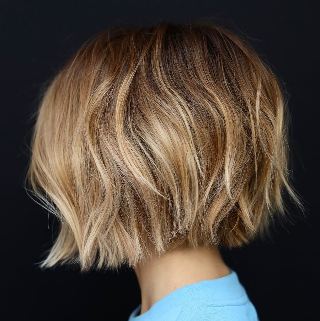 40 Awesome Ideas For Layered Bob Hairstyles You Can't Miss With Trendy Shag Haircuts With Blunt Ends And Angled Layers (View 3 of 20)