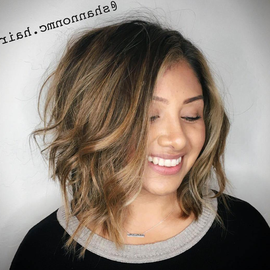 40 Classy Hairstyles For Round Faces To Choose In 2019 With Regard To Long Bob Hairstyles For Round Face Types (View 10 of 20)