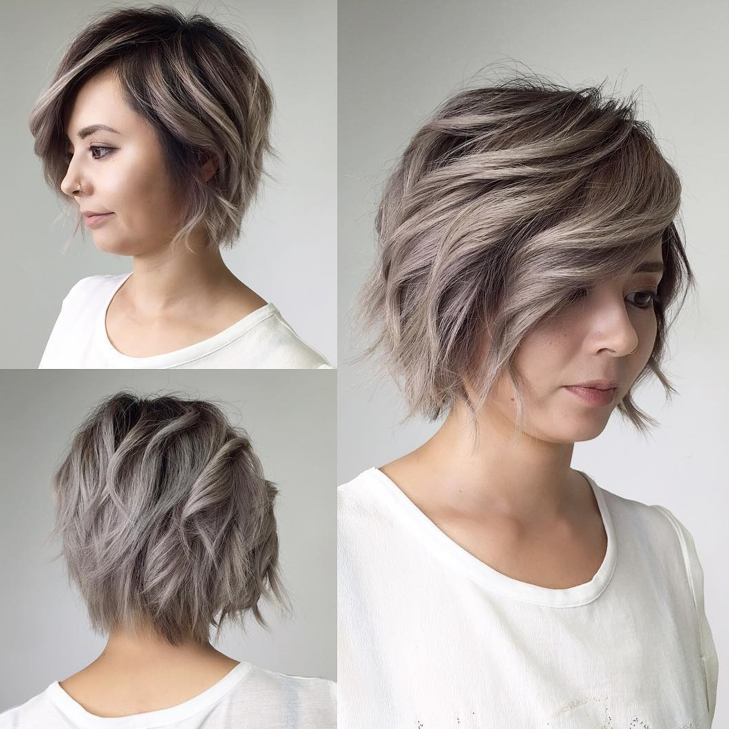 40 Classy Hairstyles For Round Faces To Choose In 2019 Within Color Highlights Short Hairstyles For Round Face Types (View 9 of 20)
