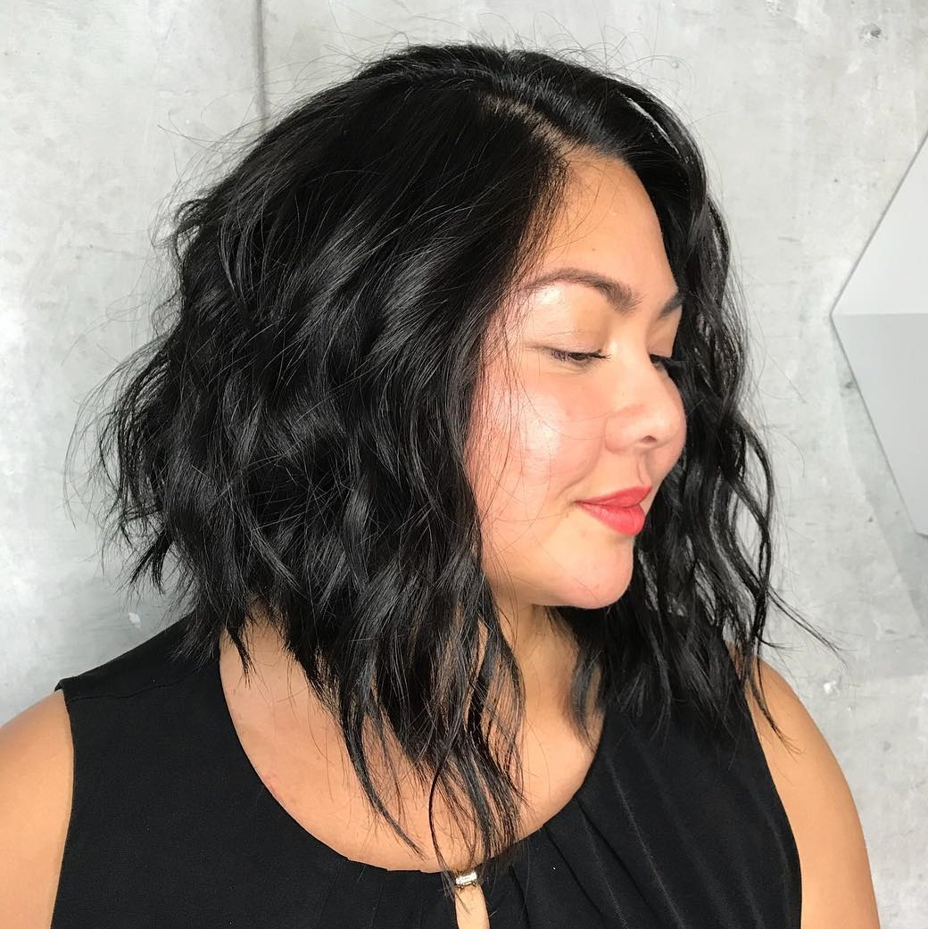 40 Classy Hairstyles For Round Faces To Choose In 2019 Within Long Bob Hairstyles For Round Face Types (View 12 of 20)