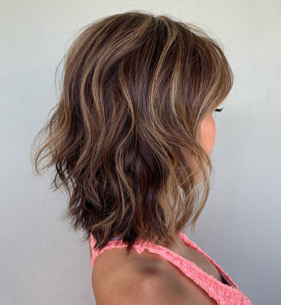 40 Medium Length Hairstyles For Thick Hair ⋆ Palau Oceans For 2017 Sleek Mid Length Haircuts With Shaggy Ends (View 18 of 20)