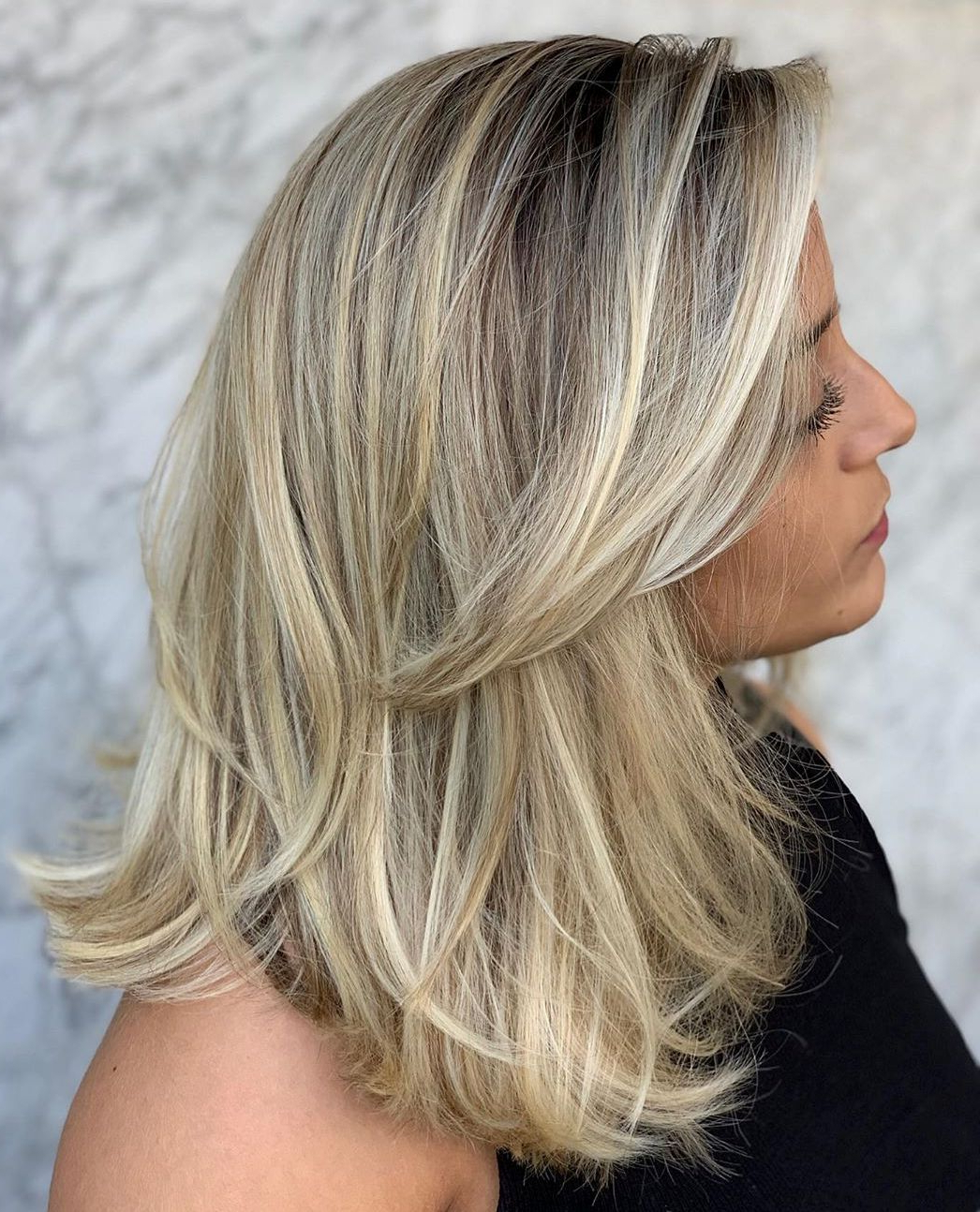 40 Medium Length Hairstyles For Thick Hair ⋆ Palau Oceans Inside Popular Shiny Caramel Layers Long Shag Haircuts (View 2 of 20)