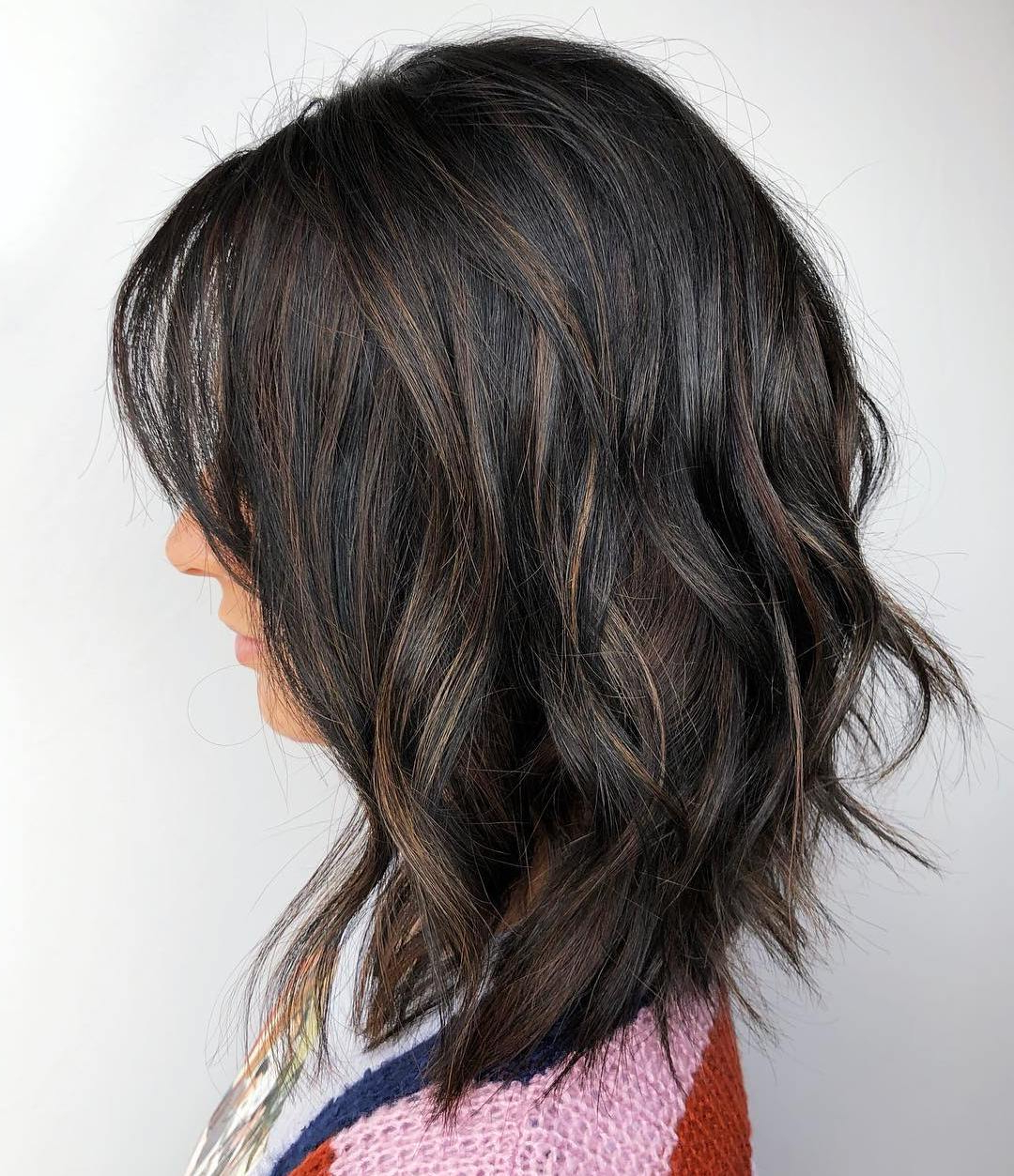 40 Medium Length Hairstyles For Thick Hair ⋆ Palau Oceans Pertaining To Well Liked Gray Razored Shag Haircuts With Black Roots (View 8 of 20)