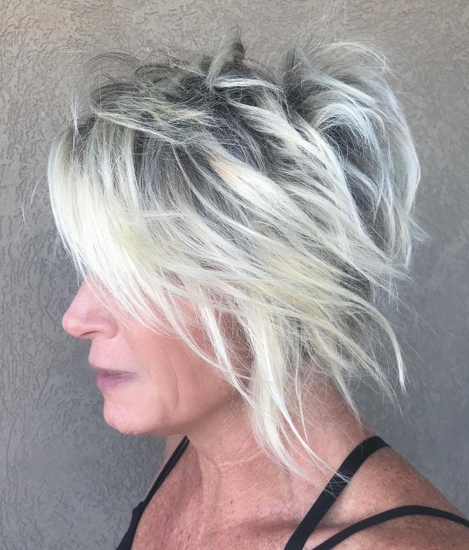 40 Modern Shag Haircuts For Women To Make A Splash Pertaining To Widely Used Gray Razored Shag Haircuts With Black Roots (View 5 of 20)