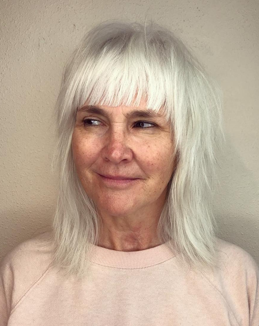 40 Modern Shag Haircuts For Women To Make A Splash Within Silver White Shaggy Haircuts (View 9 of 20)