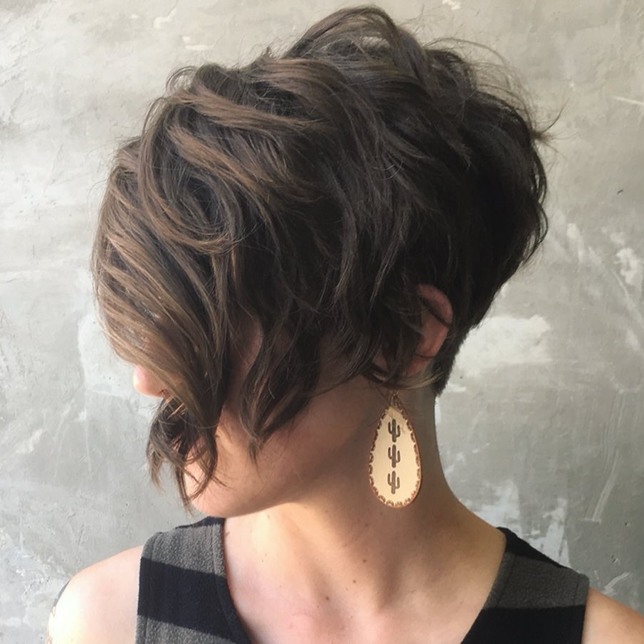 40 Short Hairstyles For Thick Hair (trendy In 2019 2020 With Bronde Bob Shag Haircuts With Short Back (View 15 of 20)