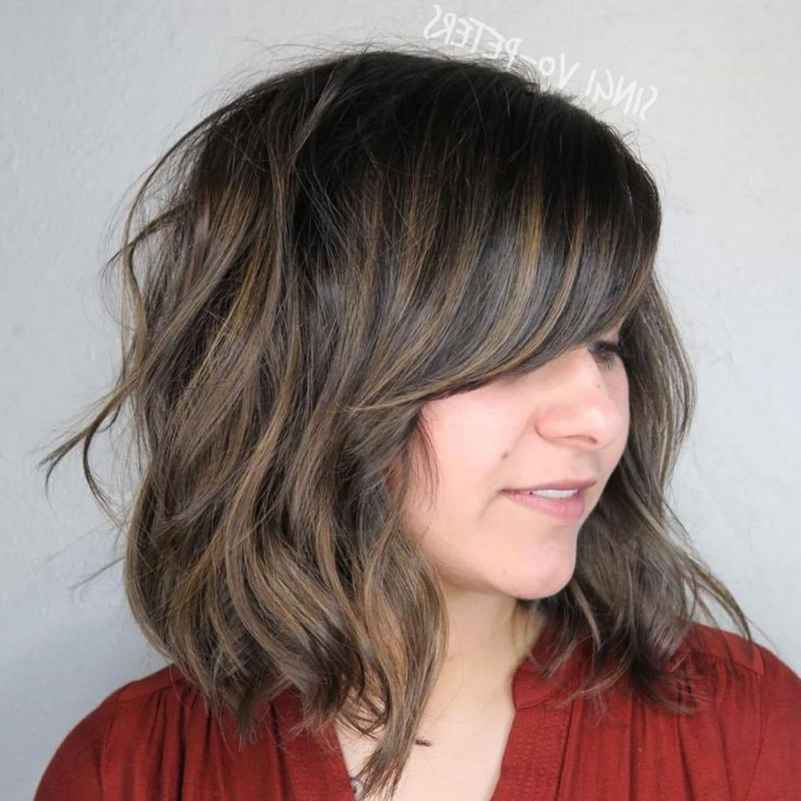 40 Side Swept Bangs To Sweep You Off Your Feet In 2019 Throughout Curly Messy Bob Hairstyles With Side Bangs (View 2 of 20)