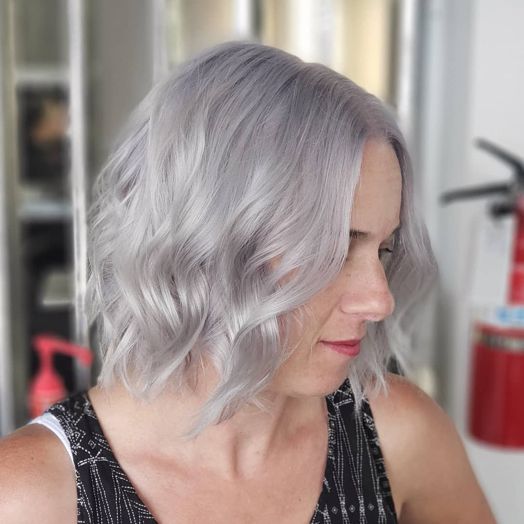 40+ Silver Hair Color Ideas & 2019 Trends: Highlights With Regard To Dusty Lavender Short Shag Haircuts (View 15 of 20)