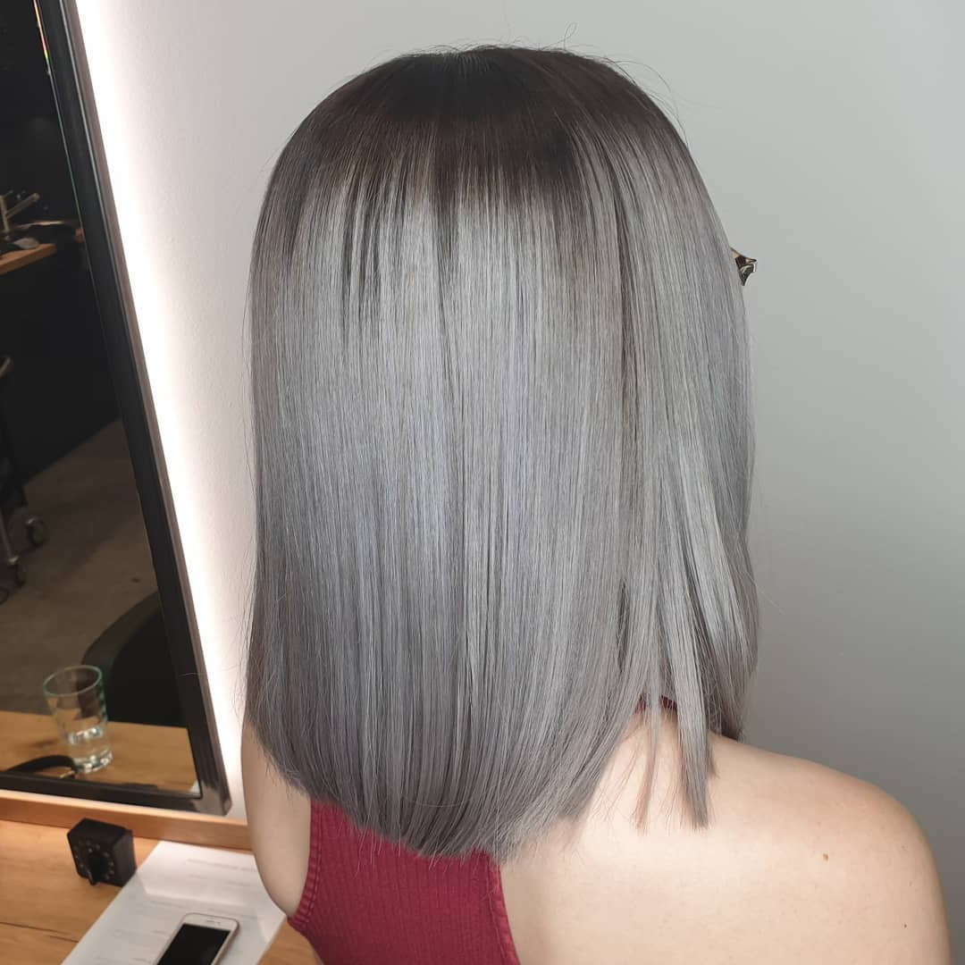 40+ Silver Hair Color Ideas & 2019 Trends: Highlights Within Dusty Lavender Short Shag Haircuts (View 10 of 20)