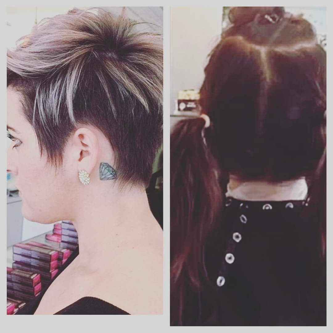 40+ Smart Pixie Haircuts Which Will Convince You To Chop Inside Long Pixie Haircuts With Sharp Layers And Highlights (View 13 of 20)