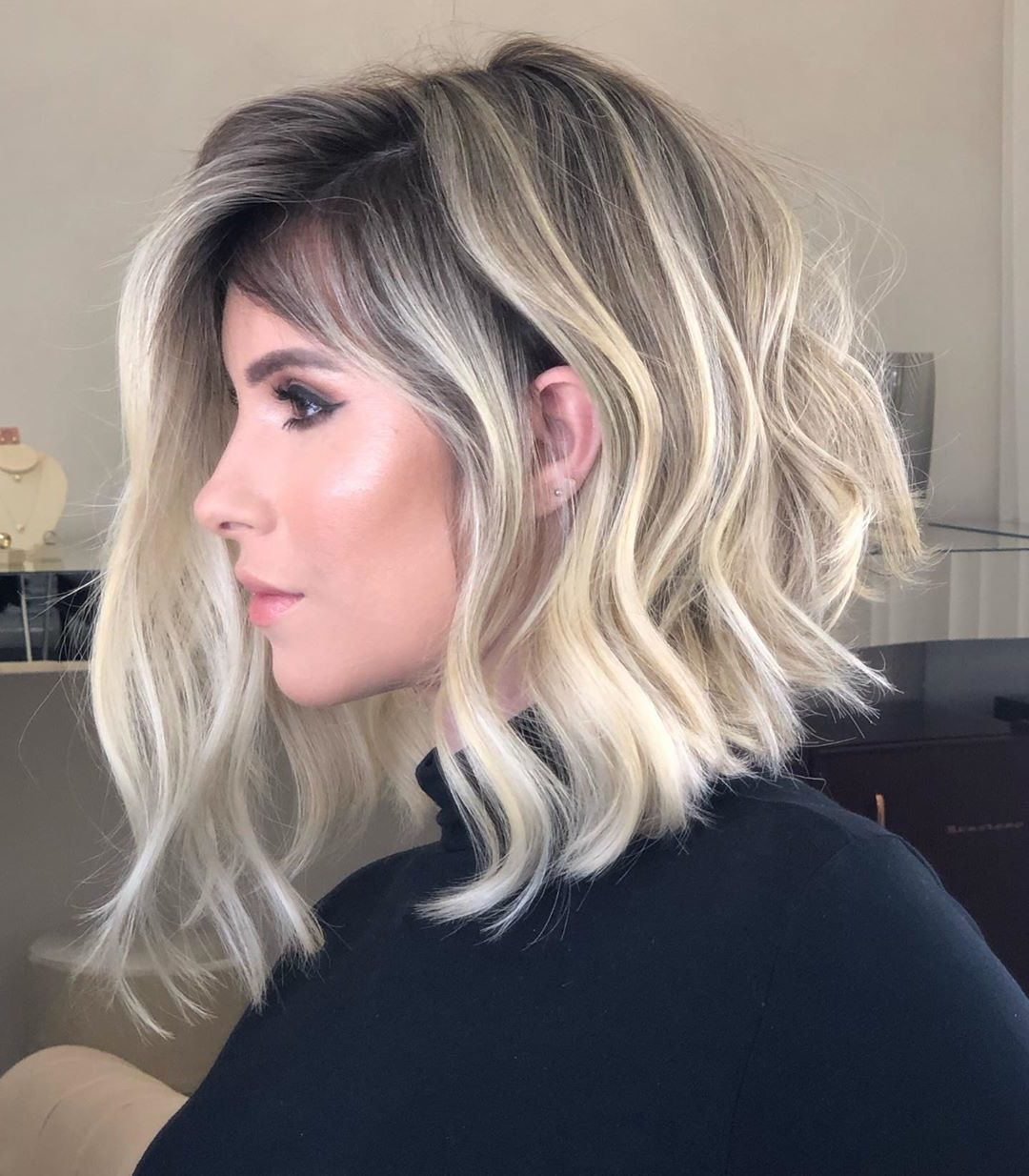 43 Wavy Bob Hairstyles In 2019 | Best Short, Medium & Long Bobs For Asymmetrical Grunge Bob Hairstyles (View 9 of 20)