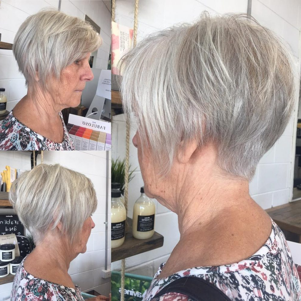 43 Youthful Short Hairstyles For Women Over 50 (With Fine Within Dusty Lavender Short Shag Haircuts (View 13 of 20)