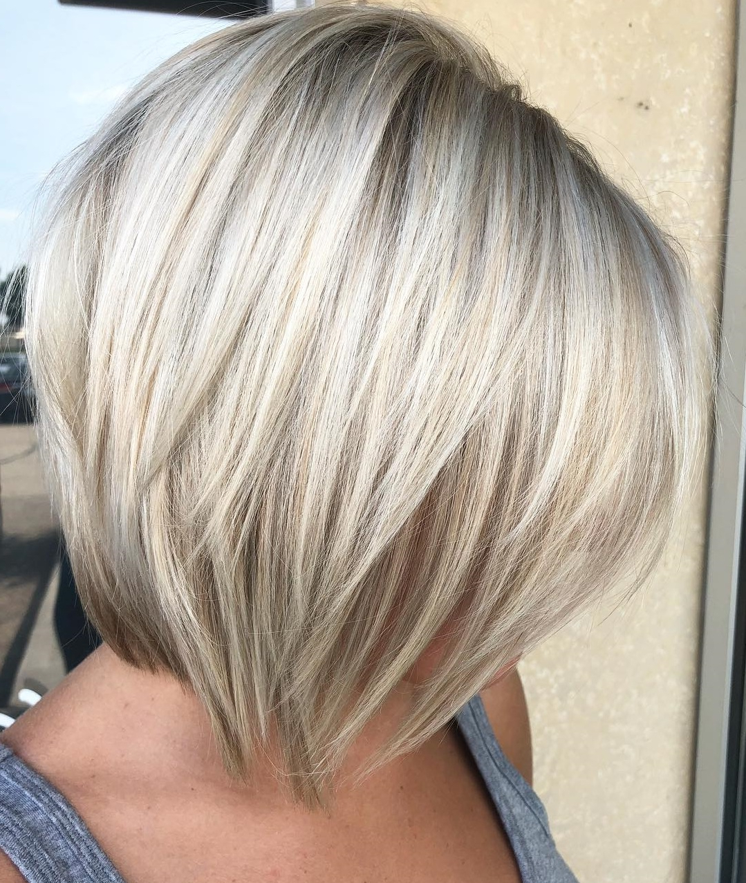 45 Short Hairstyles For Fine Hair To Rock In 2019 For Angled Bob Hairstyles With Razored Ends (View 14 of 20)