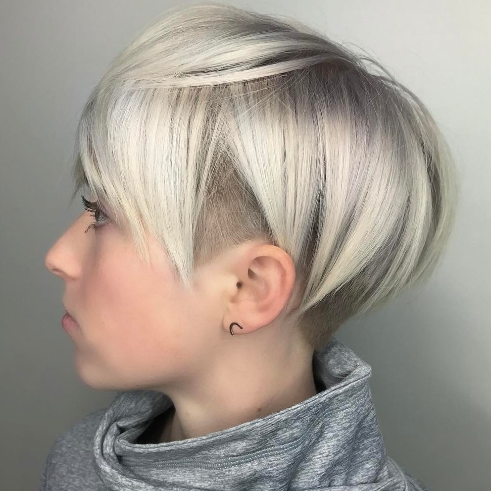 45 Short Hairstyles For Fine Hair To Rock In 2019 For Platinum Short Shag Haircuts (View 11 of 20)