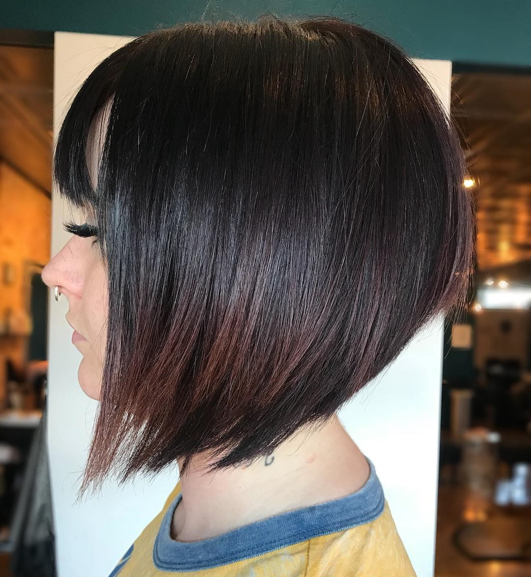 45 Short Hairstyles For Fine Hair To Rock In 2019 Inside Short Sliced Inverted Bob Hairstyles (View 16 of 20)