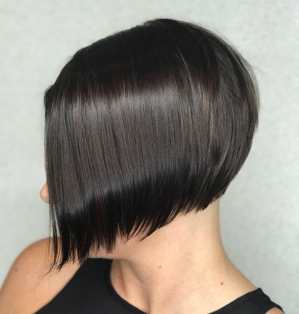45 Short Hairstyles For Fine Hair To Rock In 2019 Pertaining To Sleek Blunt Brunette Bob Hairstyles (View 16 of 20)
