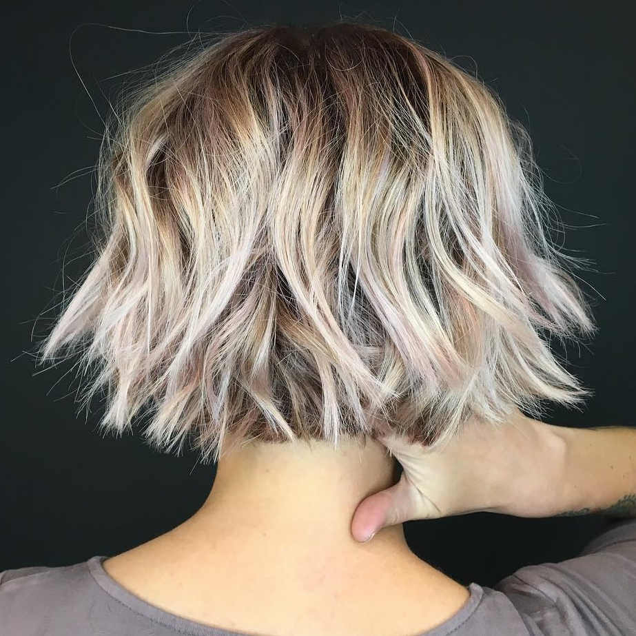 45 Short Hairstyles For Fine Hair To Rock In 2019 Throughout Choppy Bob Hairstyles With Blonde Ends (View 5 of 20)