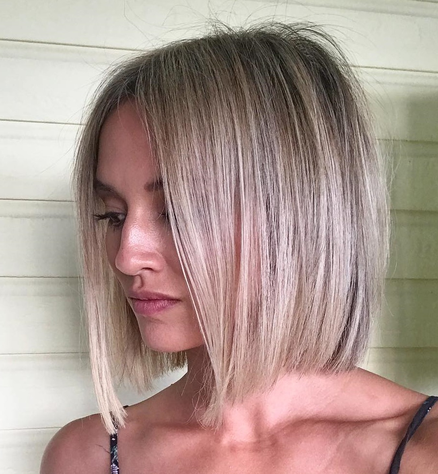 45 Short Hairstyles For Fine Hair To Rock In 2019 Throughout Sleek Blunt Brunette Bob Hairstyles (View 10 of 20)