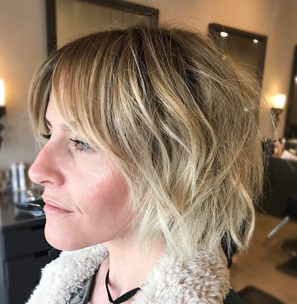 45 Short Hairstyles For Fine Hair To Rock In 2019 Within Shaggy Blonde Bob Hairstyles With Bangs (View 4 of 20)