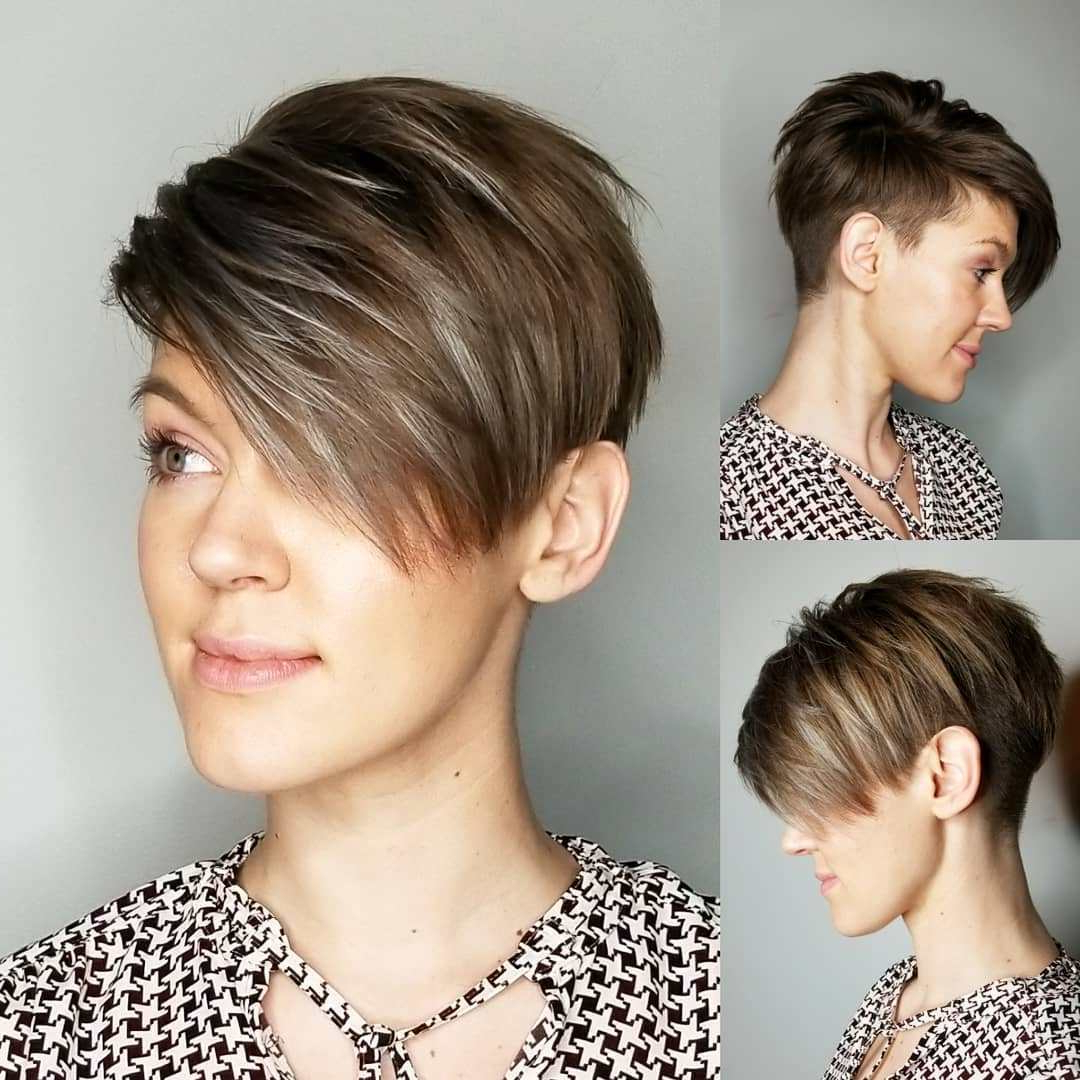 50 Best Short Haircuts And Hairstyles For Fine Hair – Hair With Regard To Messy Spiky Pixie Haircuts With Asymmetrical Bangs (View 6 of 20)