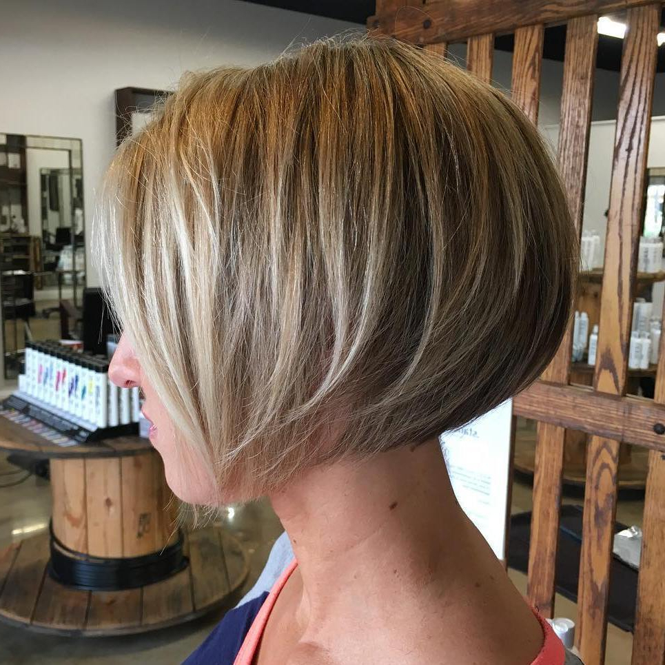 50 Bob Hairstyles For Fine Hair That Really Look Fuller In Short Sliced Metallic Blonde Bob Hairstyles (View 7 of 20)