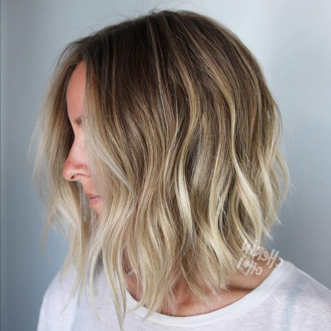 50 Bob Hairstyles For Fine Hair That Really Look Fuller In Trendy Textured Bronde Bob Hairstyles With Silver Balayage (View 13 of 20)
