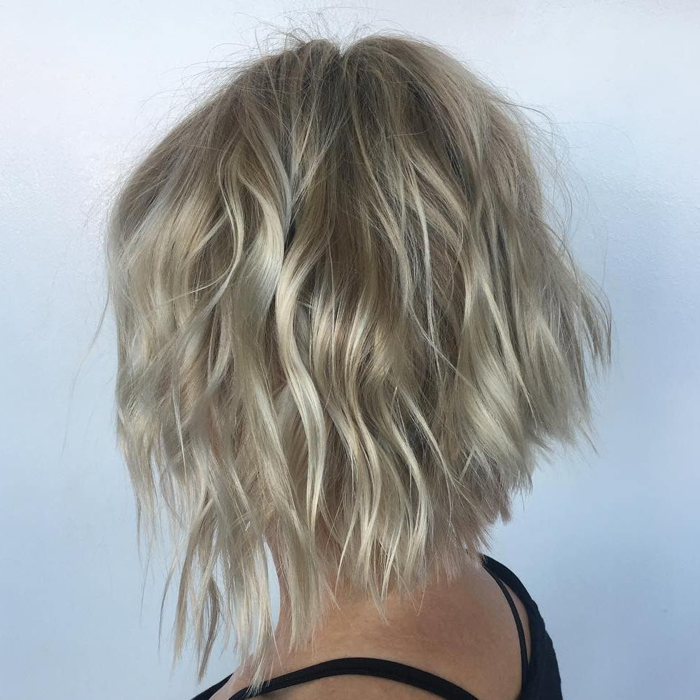 50 Bob Hairstyles For Fine Hair That Really Look Fuller Regarding Slightly Angled Messy Bob Hairstyles (View 18 of 20)