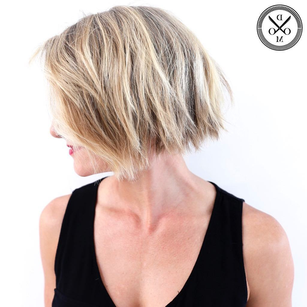 50 Choppy Bobs Too Damn Good Not To Copy – Hair Adviser In Simple Side Parted Jaw Length Bob Hairstyles (Gallery 13 of 20)