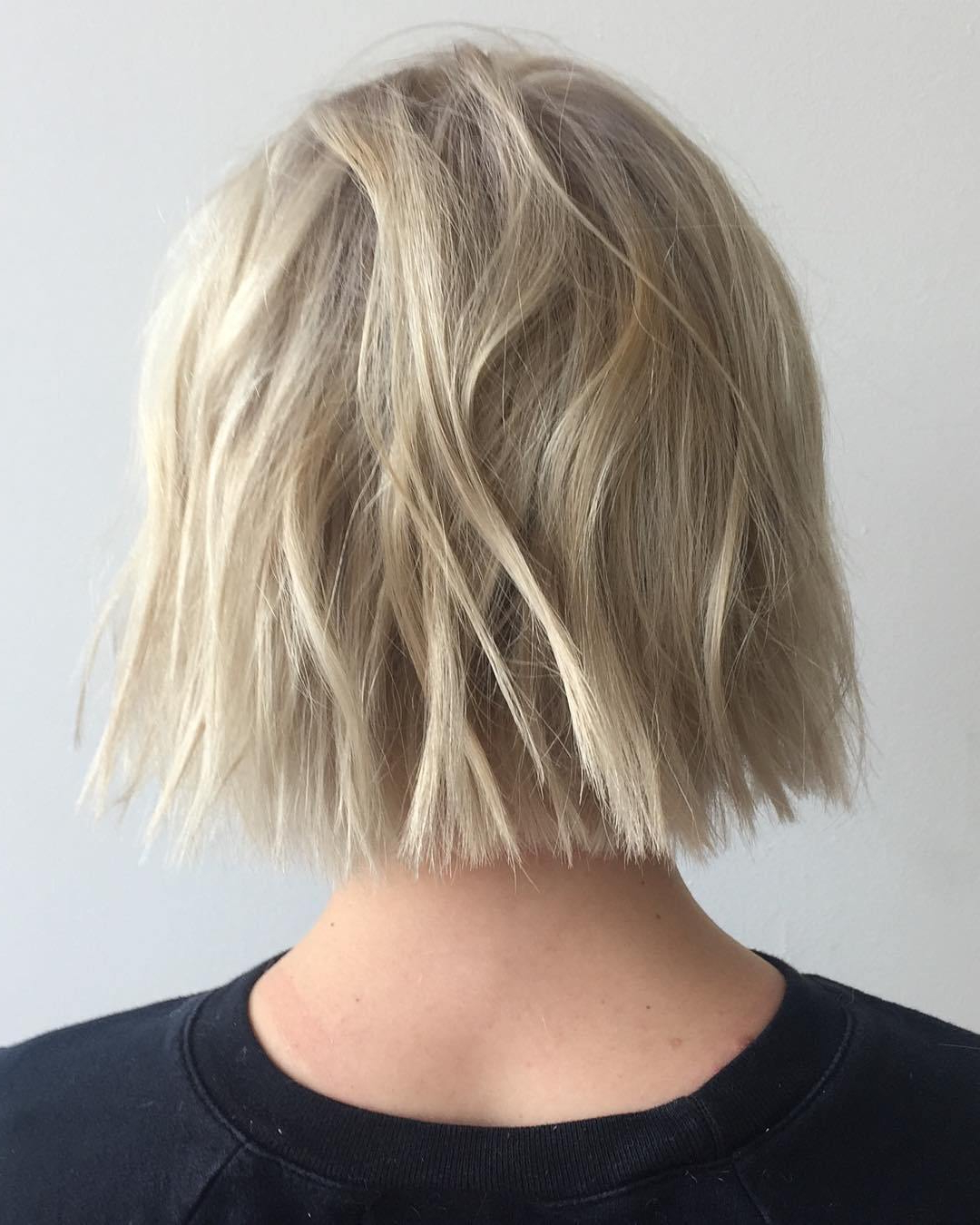 50 Choppy Bobs Too Damn Good Not To Copy – Hair Adviser Inside Choppy Blonde Bob Hairstyles With Messy Waves (View 8 of 20)