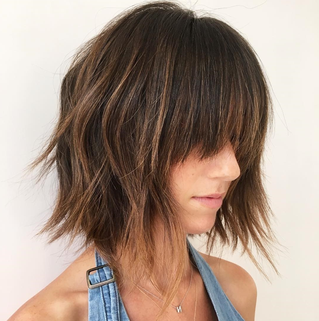 50 Choppy Bobs Too Damn Good Not To Copy – Hair Adviser With Regard To Disconnected Shaggy Brunette Bob Hairstyles (View 11 of 20)