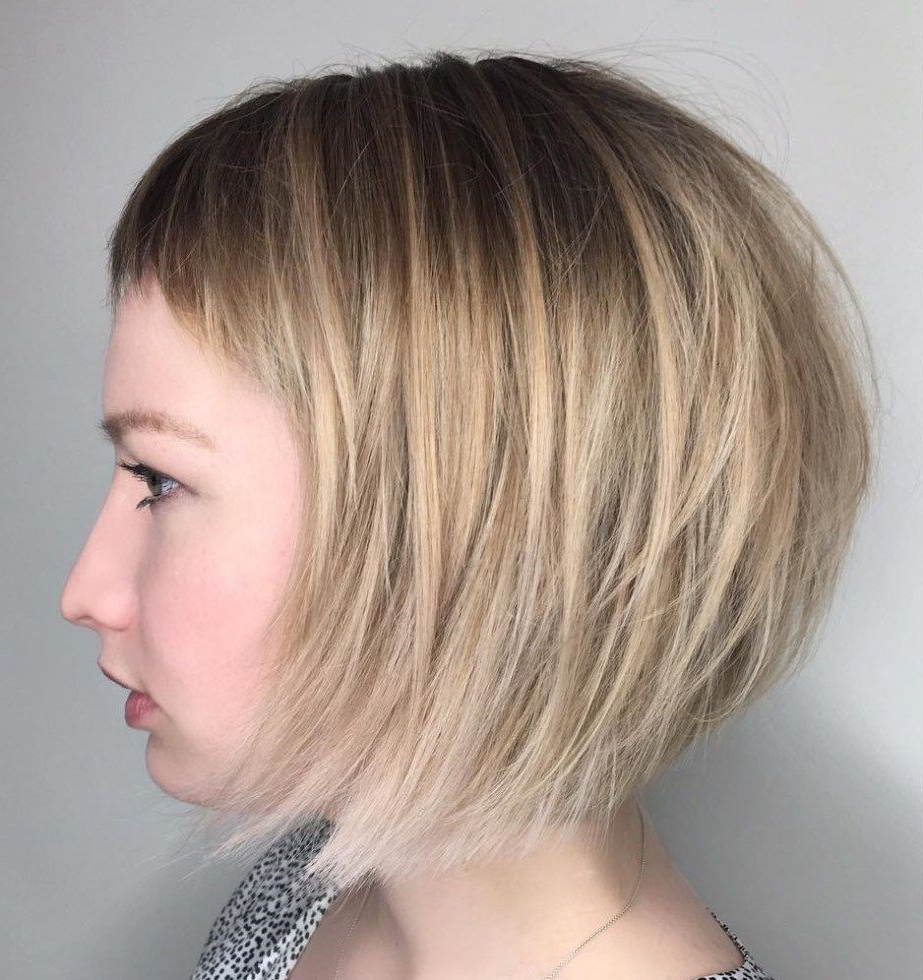 50 Classy Short Bob Haircuts And Hairstyles With Bangs Inside Short Bob Hairstyles With Cropped Bangs (View 9 of 20)