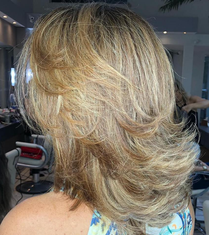 50 Fabulous Medium Length Layered Hairstyles – Hair Adviser For Trendy Long Hairstyles With Short Flipped Up Layers (View 7 of 20)
