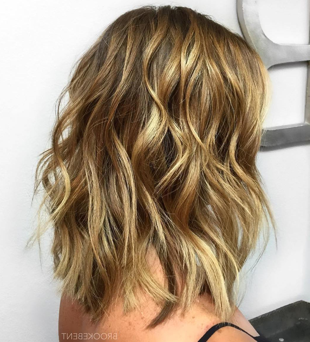 50 Fabulous Medium Length Layered Hairstyles – Hair Adviser In 2019 Lovely Golden Blonde Haircuts With Swoopy Layers (View 10 of 20)