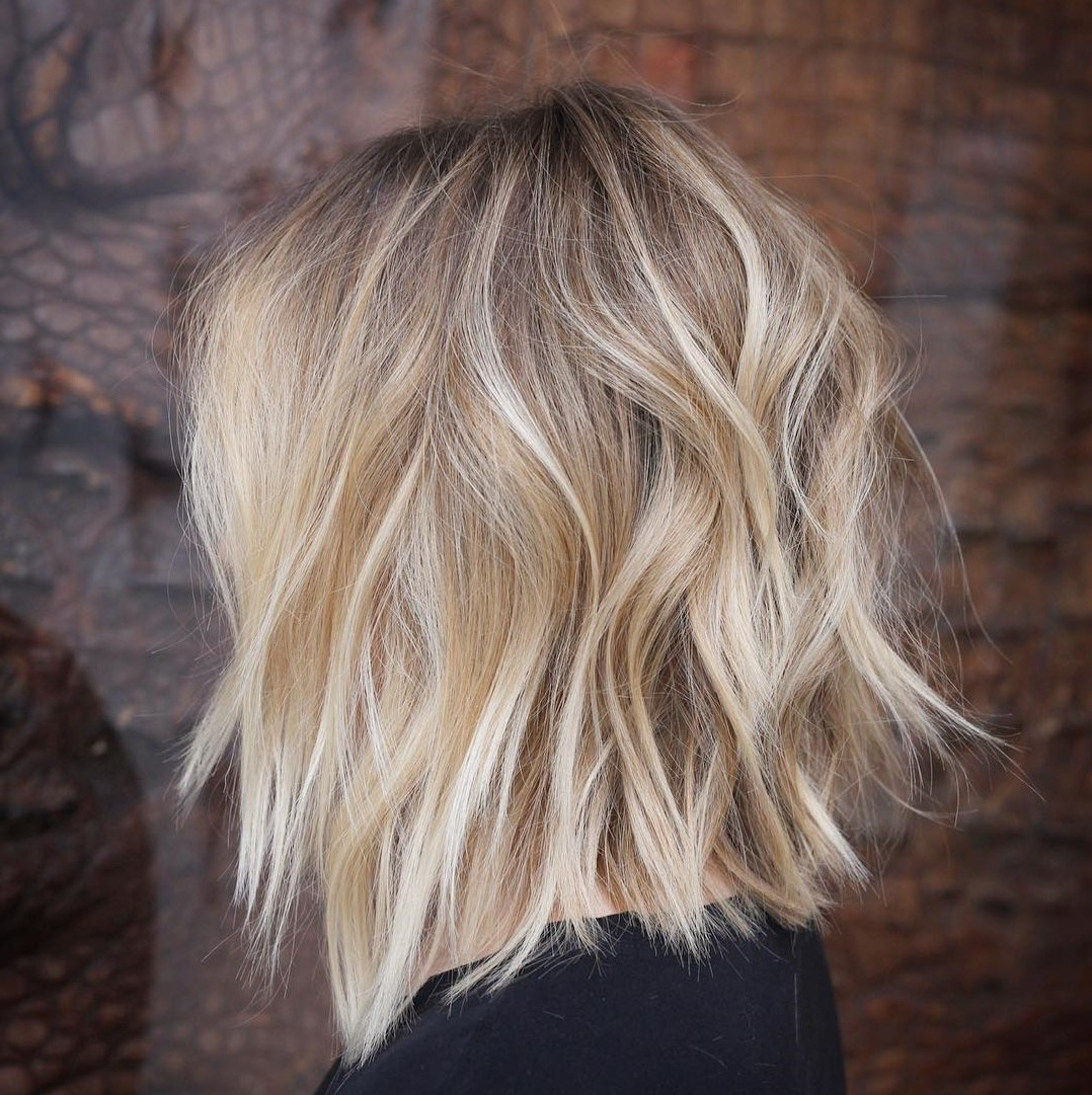 50 Fabulous Medium Length Layered Hairstyles – Hair Adviser In Choppy Blonde Bob Hairstyles With Messy Waves (View 17 of 20)