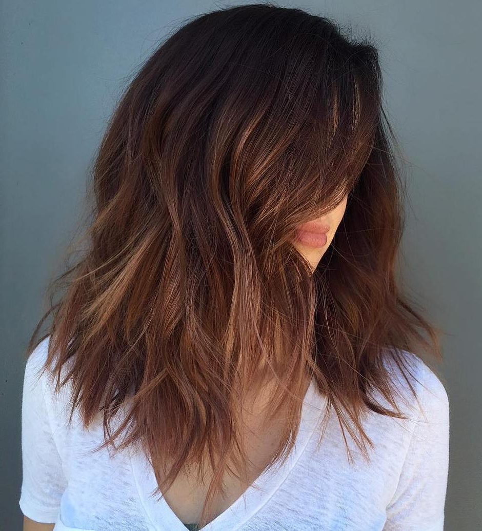 50 Fabulous Medium Length Layered Hairstyles – Hair Adviser Intended For 2018 Medium Shaggy Brunette Hairstyles (View 11 of 20)