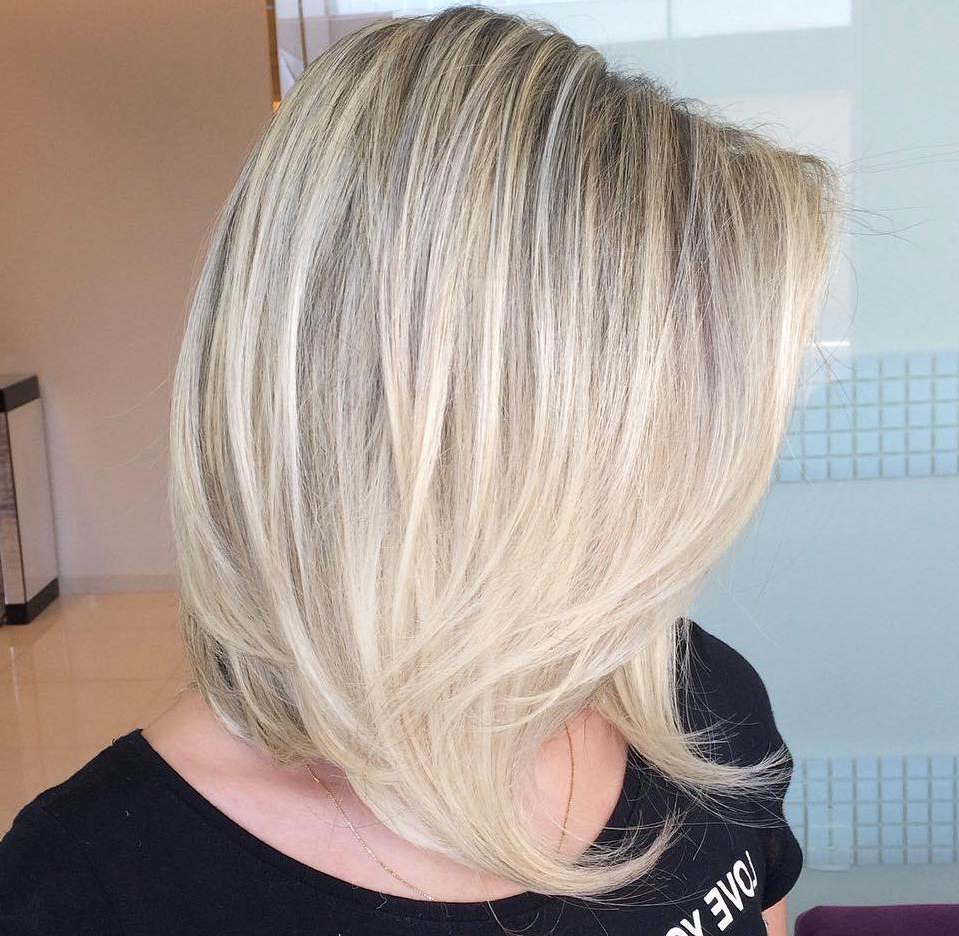 50 Fabulous Medium Length Layered Hairstyles – Hair Adviser Within Most Current Lovely Golden Blonde Haircuts With Swoopy Layers (View 12 of 20)