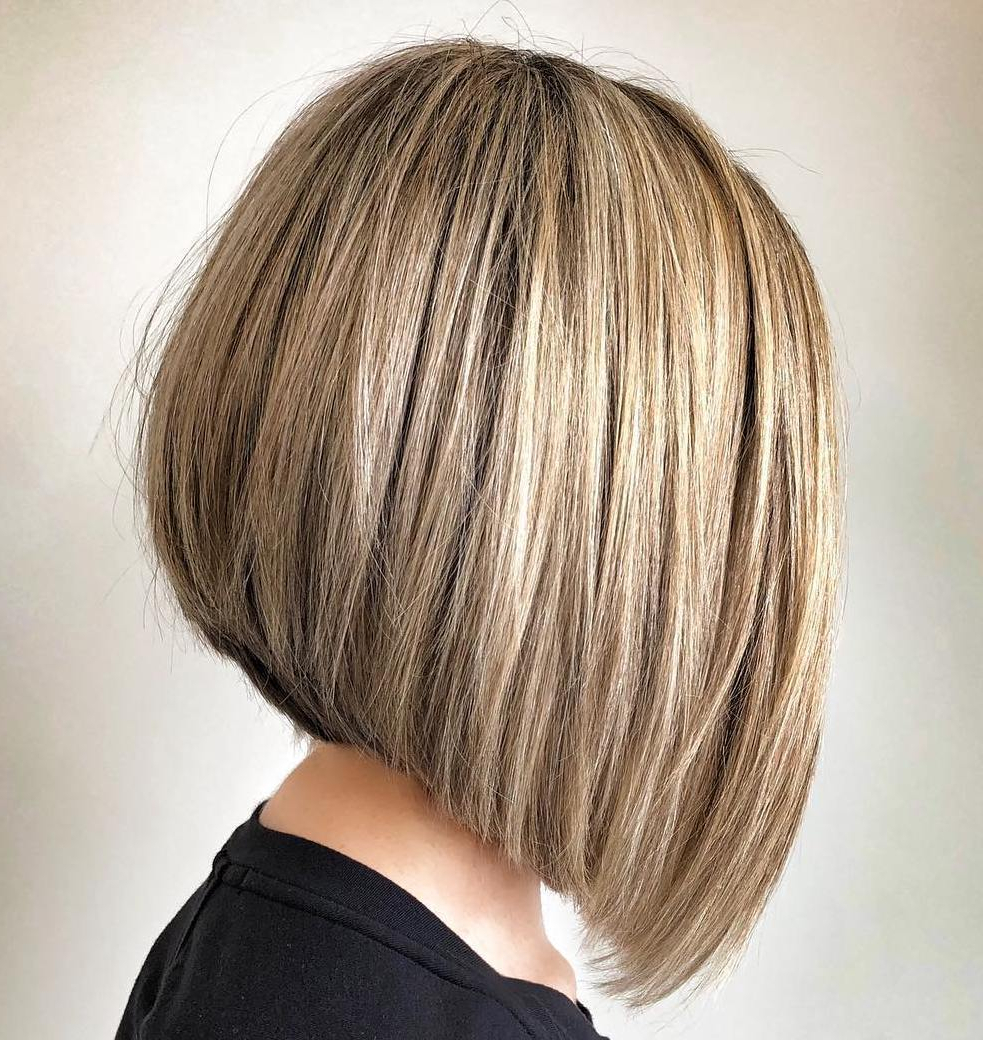 50 Gorgeous A Line Bob Haircuts To Beat Hair Boredom – Hair Within Short Sliced Metallic Blonde Bob Hairstyles (View 13 of 20)