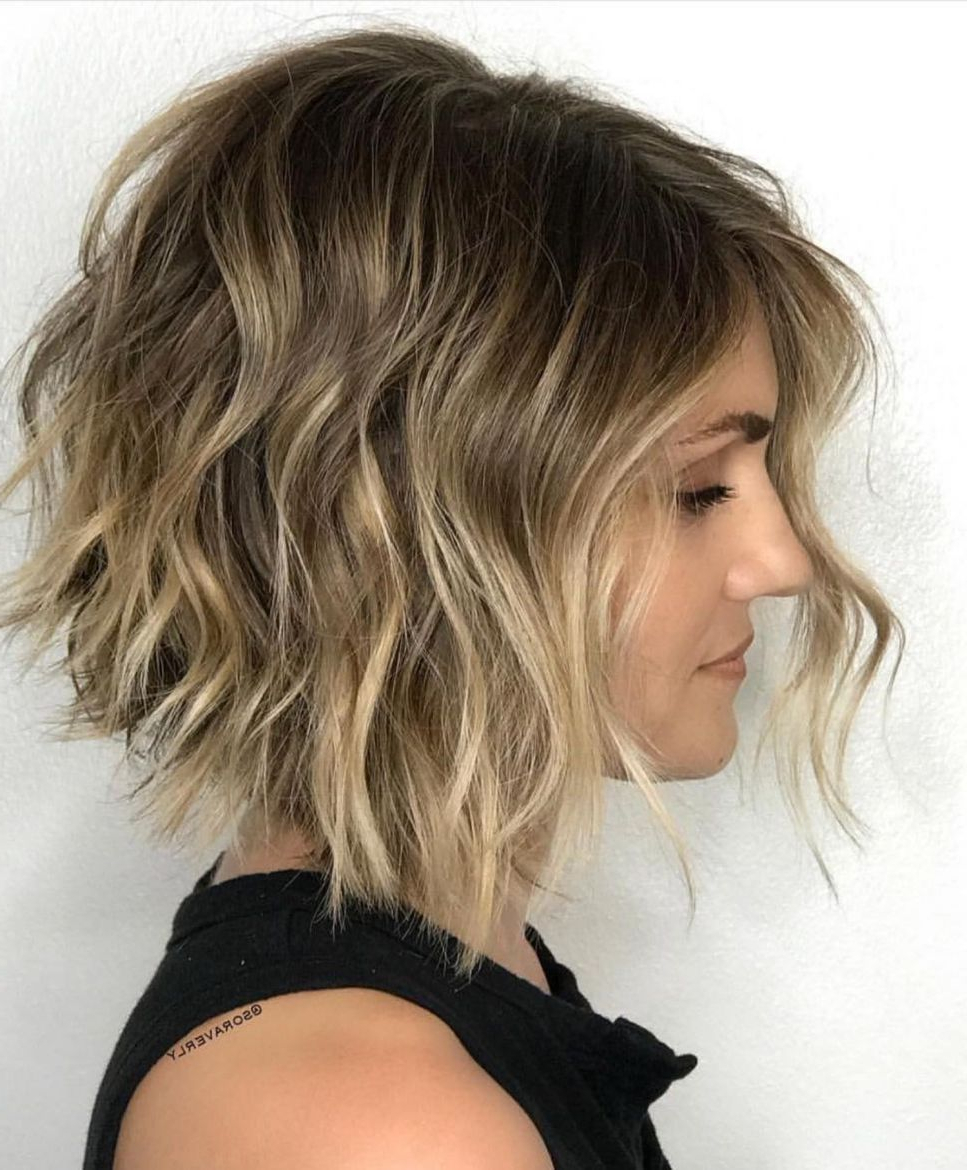 50 Gorgeous Wavy Bob Hairstyles With An Extra Touch Of Pertaining To Best And Newest Long Haircuts With Chunky Angled Layers (View 8 of 20)