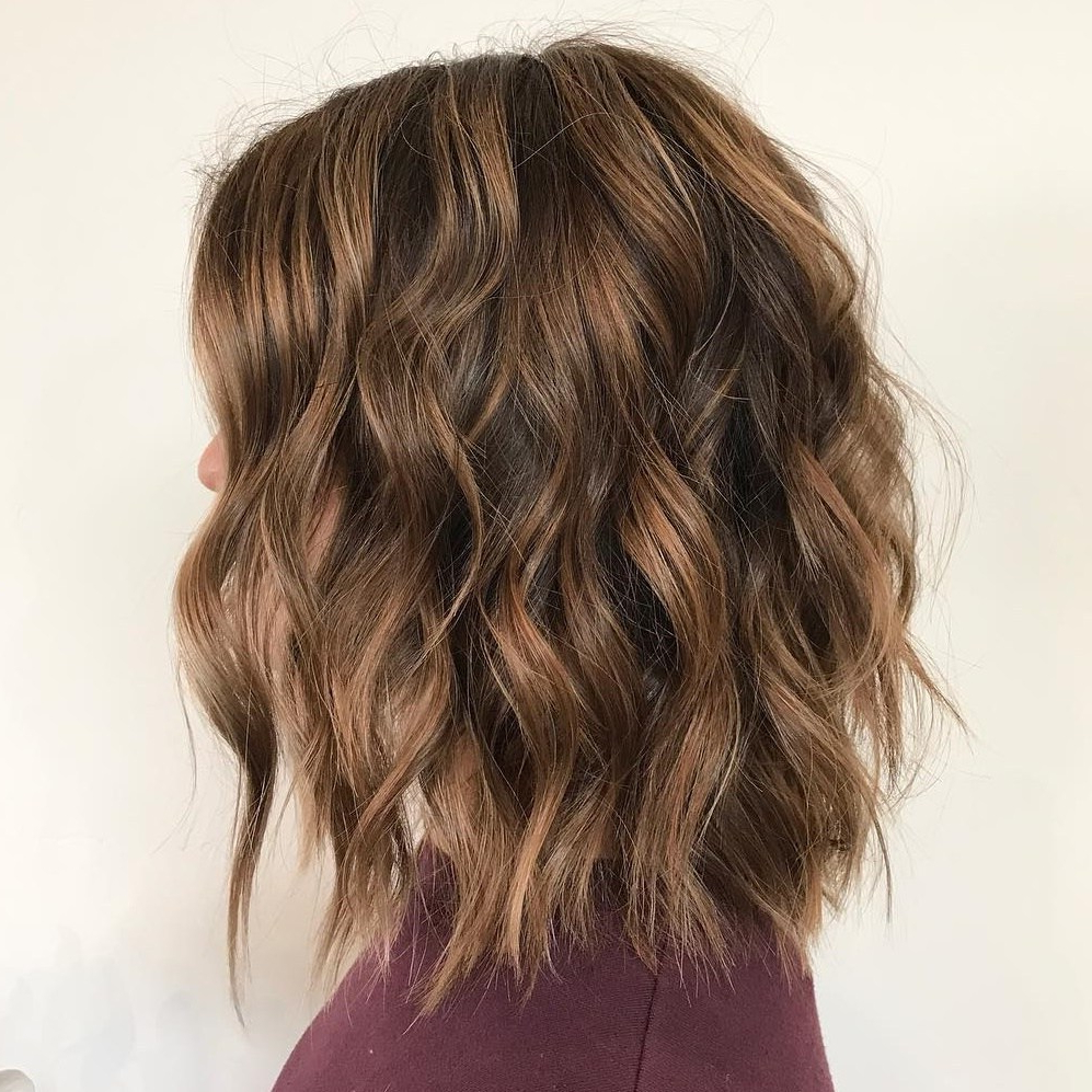 50 Hairstyles For Thick Wavy Hair You Will Adore – Hair For Current Razored Gray Bob Hairstyles With Bangs (View 3 of 20)