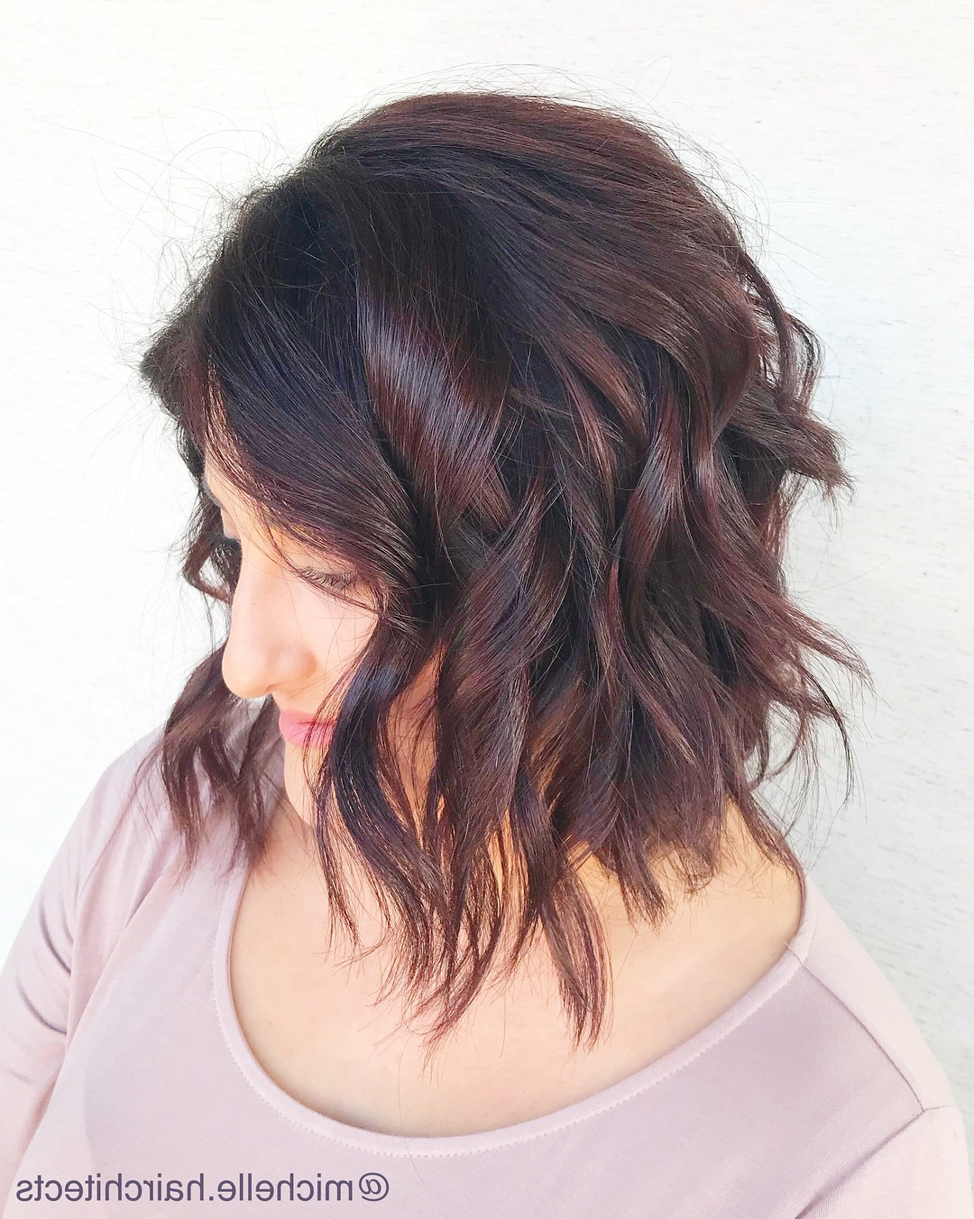 50 Hairstyles For Thick Wavy Hair You Will Adore – Hair For Most Up To Date Curly Bronde Haircuts With Choppy Ends (Gallery 5 of 20)