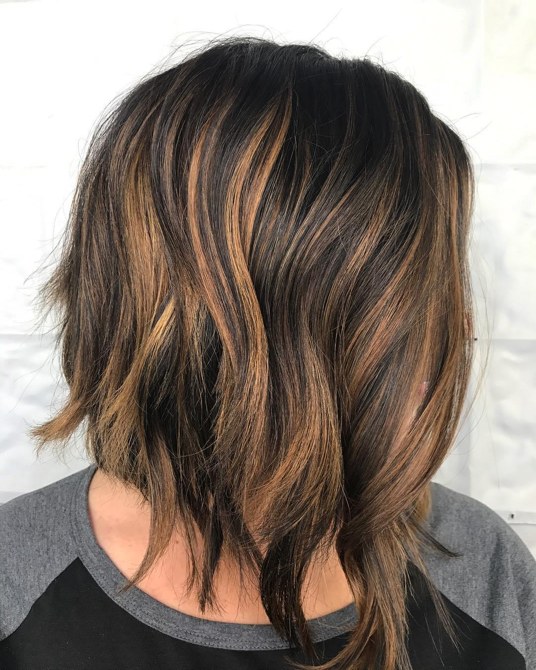 50 Hairstyles For Thick Wavy Hair You Will Adore – Hair Inside Favorite Razored Gray Bob Hairstyles With Bangs (View 12 of 20)