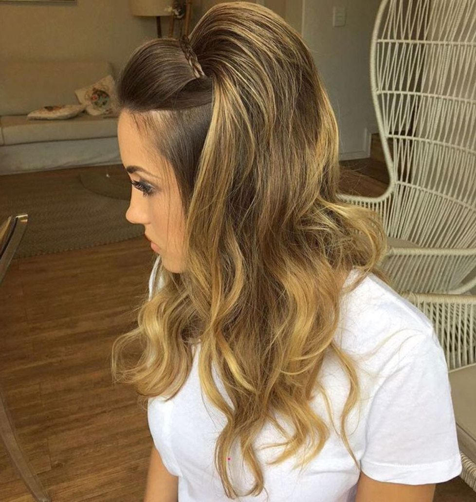 50 Half Updos For Your Perfect Everyday And Party Looks In With 2018 Voluminous Long Caramel Hairstyles (View 4 of 20)