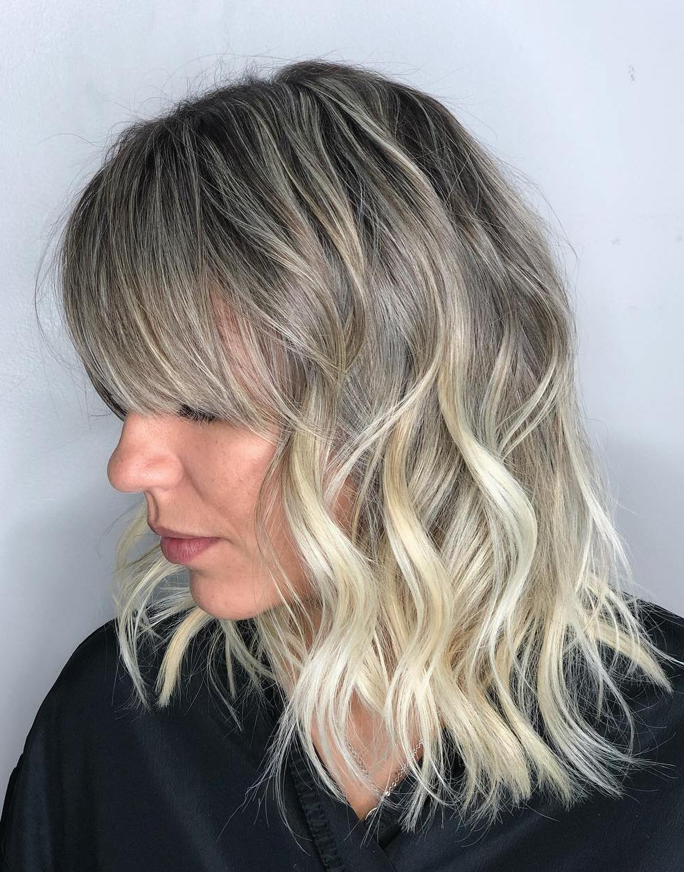 50 Head Turning Hairstyles For Thin Hair To Flaunt In 2019 With Regard To Most Recent Perfect Bangs And Wild Layers Hairstyles (View 6 of 20)