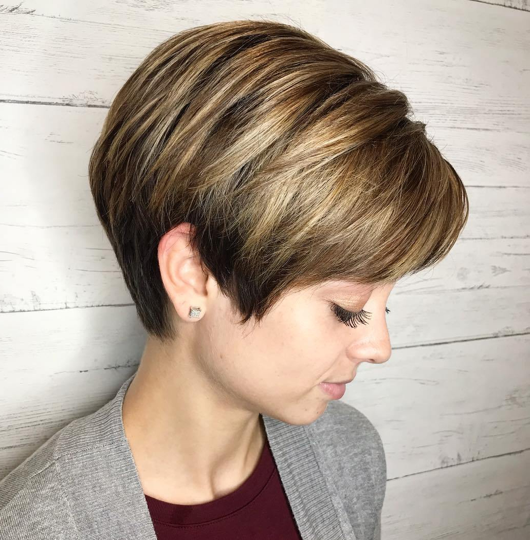 50 Hottest Pixie Cut Hairstyles In 2019 Inside Straight Long Shaggy Pixie Haircuts (View 10 of 20)