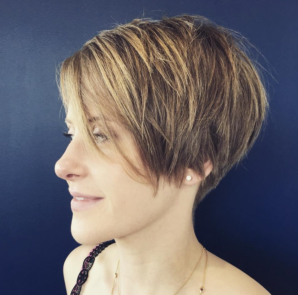50 Hottest Pixie Cut Hairstyles In 2019 Intended For Sophisticated Wavy Ash Blonde Pixie Bob Hairstyles (View 13 of 20)
