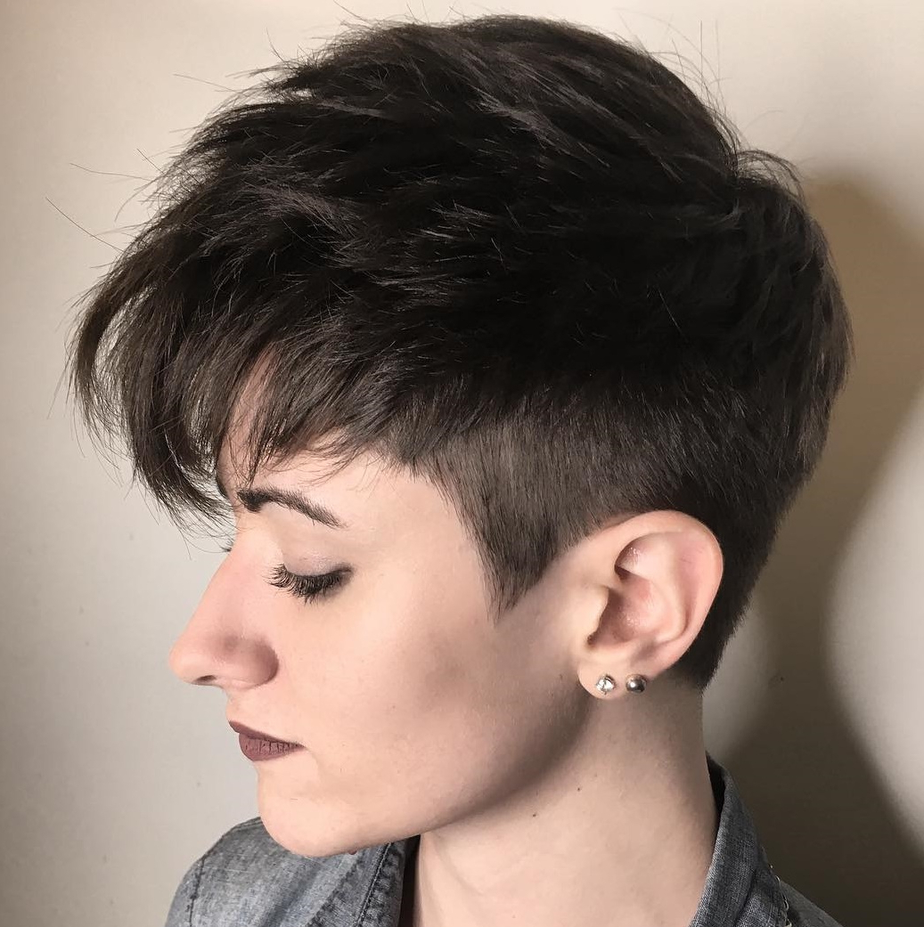 50 Hottest Pixie Cut Hairstyles In 2019 With Gray Pixie Haircuts With Messy Crown (View 17 of 20)
