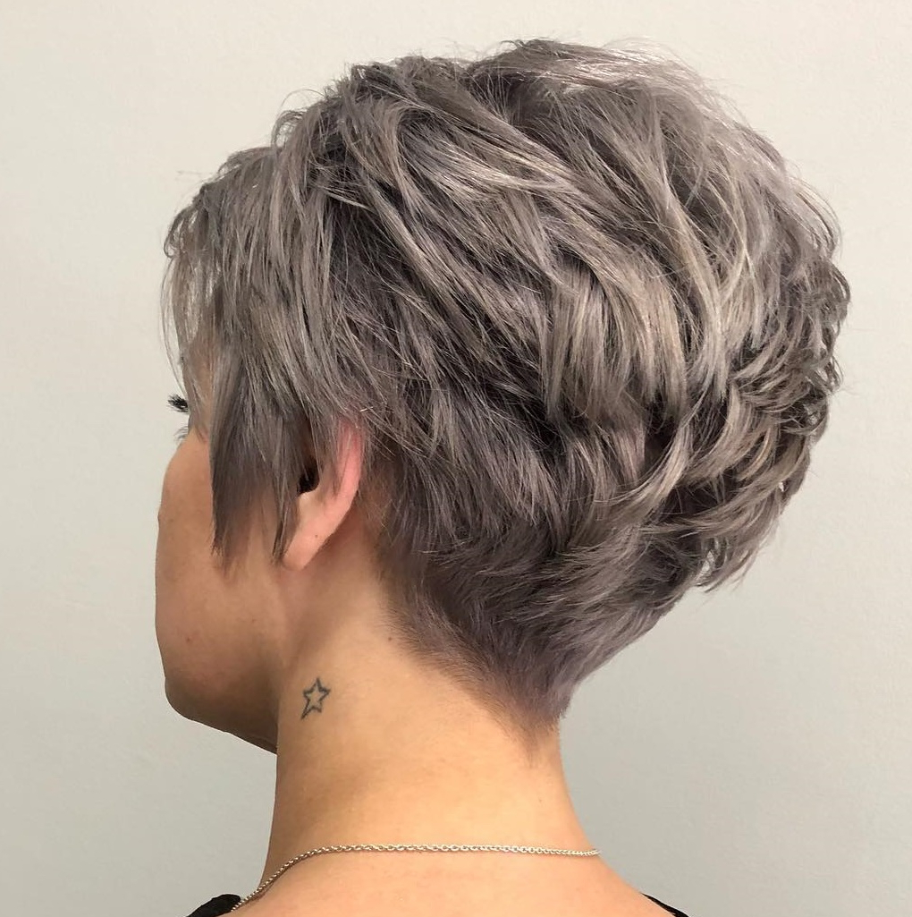 50 Hottest Pixie Cut Hairstyles In 2019 Within Gray Pixie Haircuts With Messy Crown (View 2 of 20)