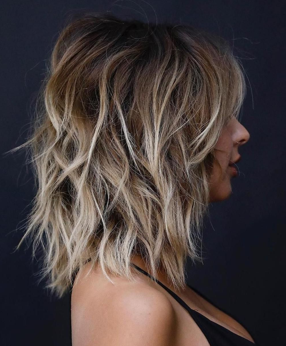 50 Ideas For Light Brown Hair With Highlights And Lowlights Regarding Best And Newest Shoulder Length Shag Haircuts With Babylights (View 5 of 20)